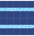 blue ceramic tile mosaic in swimming pool vector image vector image