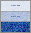 Blue tiled triangle mosaic banner design set vector image vector image