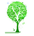 Bright green tree in bloom vector image