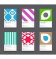 Bright Trendy Vertical Business Card Set vector image vector image