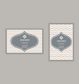 business card with chevron stripes design in vector image vector image