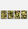 camouflage textured backgrounds abstract painting vector image vector image