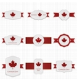 Canada Day Banners Set with festive Ribbons vector image