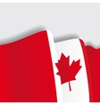 Canadian waving Flag vector image vector image