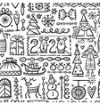 christmas background sketch for your design vector image vector image