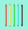 colored pencils set vector image vector image