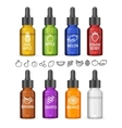 Colorful E-liquid Bottle Set vector image vector image