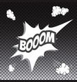 comic speech bubble boom vector image