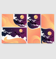 cool helloween banners for web and print flayers vector image vector image
