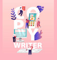 copy writer work concept online journalist vector image vector image