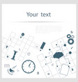 Crossword background vector image
