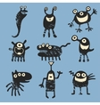 cute happy monsters vector image vector image