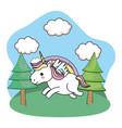 cute magic unicorn vector image
