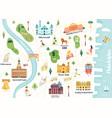 detailed map philadelphia city vector image
