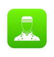 doorman icon digital green vector image