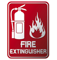 Fire extinguisher sign vector | Price: 1 Credit (USD $1)