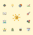 flat icons rocket break income and other vector image vector image