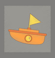 flat shading style icon kids boat vector image vector image