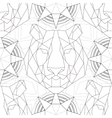 Geometric pattern tiger head trendy line design vector image vector image