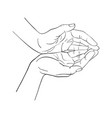 hand drawn woman hands vector image vector image