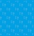 hand speaker pattern seamless blue vector image vector image