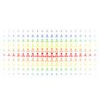 hierarchy spectral halftone matrix vector image vector image