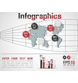 INFOGRAPHIC DEMOGRAPHIC MODERN STYLE 9 vector image vector image