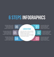 infographic template with six steps vector image vector image