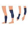injury shoulder arm leg back osteoporosis vector image