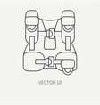 line flat plain diver underwater equipment vector image vector image