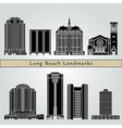 Long Beach landmarks and monument vector image