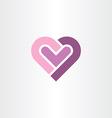 love heart icon clip art vector image vector image
