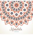 madala round ornament vector image vector image