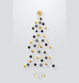 meilleurs voeux - best wishes christmas tree made vector image vector image