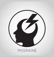 migraine logo vector image