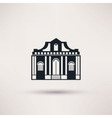 museum building art icon flat isolated vector image vector image