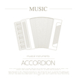 Musical instruments graphic template Accordion vector image vector image