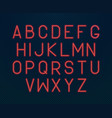 neon alphabet glowing electric written font vector image vector image