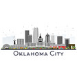oklahoma city skyline with gray buildings vector image vector image