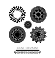 Oriental black and white mandal vector image