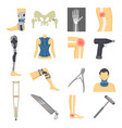 orthopedic icons collection vector image