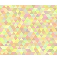 Pastel colored abstract polygon design vector image