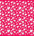 pattern heart background valentines day vector image