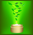 phyto cream on green background vector image vector image