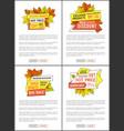 premium exclusive offer web posters set oak leaves vector image vector image