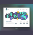 programming coding concept isometric website vector image