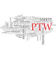 Ptw word cloud concept