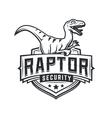 Raptor sport logo mascot design Vintage college vector image vector image