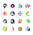 set flat design icons for beauty vector image vector image