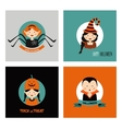 Set of 16 halloween costume characters and kids vector image vector image